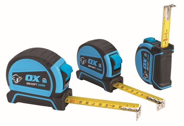 OX Pro Dual Auto Lock Tape Measure - Tape Measure - Trade Building Products