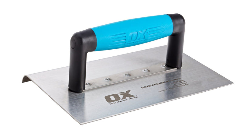 Ox Pro Extra Wide Edger - Stainless Steel - Finishing Trowel - Trade Building Products