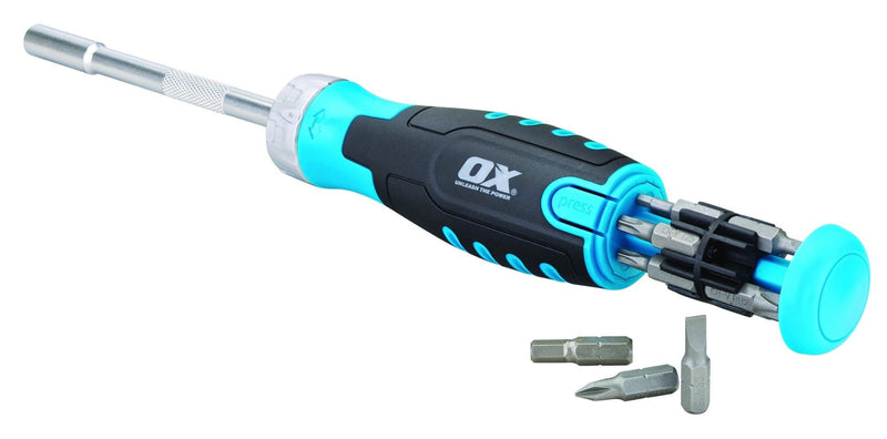 OX Pro Heavy Duty Multibit Ratchet Screwdriver - Screwdriver - Trade Building Products