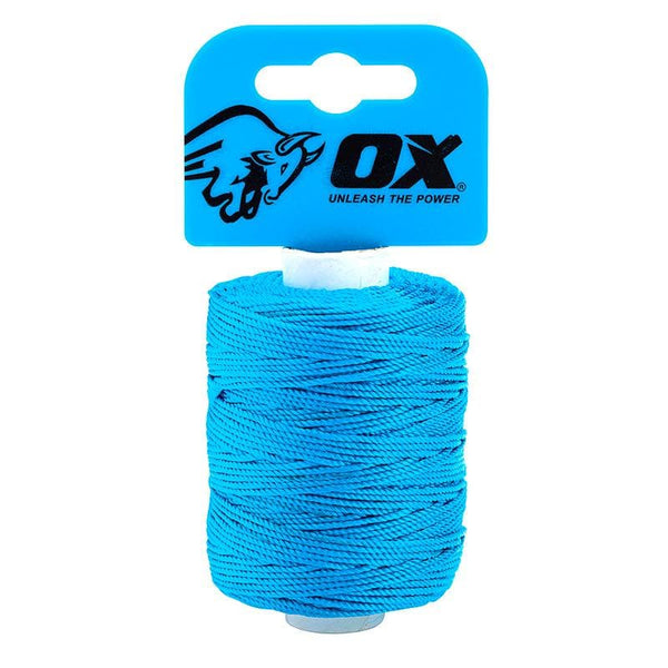 Ox Pro Nylon High Vis Builders Line 105m / 350ft - Cyan - Builders Line - Trade Building Products