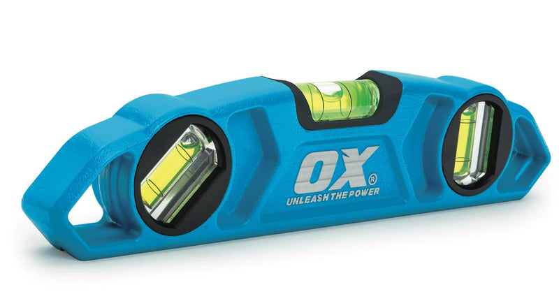 "Ox Pro Torpedo Level 9"" / 230mm - Spirit Level - Trade Building Products"
