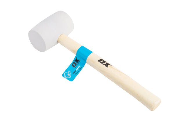OX Pro White Rubber Mallet - Rubber Mallet - Trade Building Products