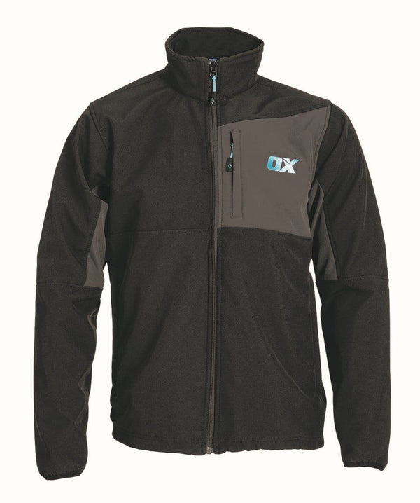 OX Softshell Jacket - Black/Grey - Jacket - Trade Building Products