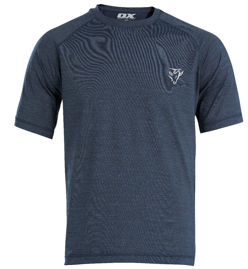OX Tech Crew T-Shirt - Navy - Top - Trade Building Products