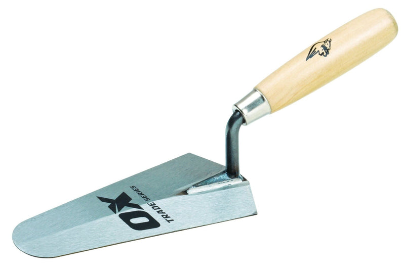 "OX Trade Gauging Trowel - Wooden Handle 7"" / 180mm - Trowel - Trade Building Products"