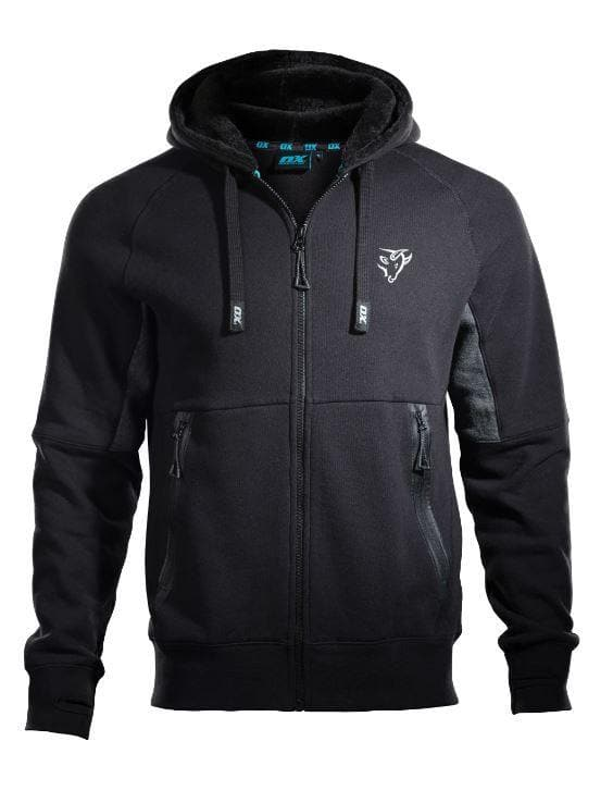 OX Zip Through Hoodie - Black/Grey - Hoodie - Trade Building Products