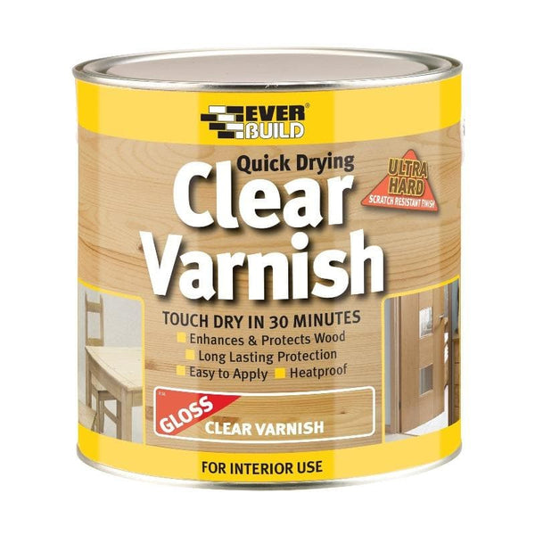 Quick Drying Clear Varnish - - Wood Treatment - Trade Building Products