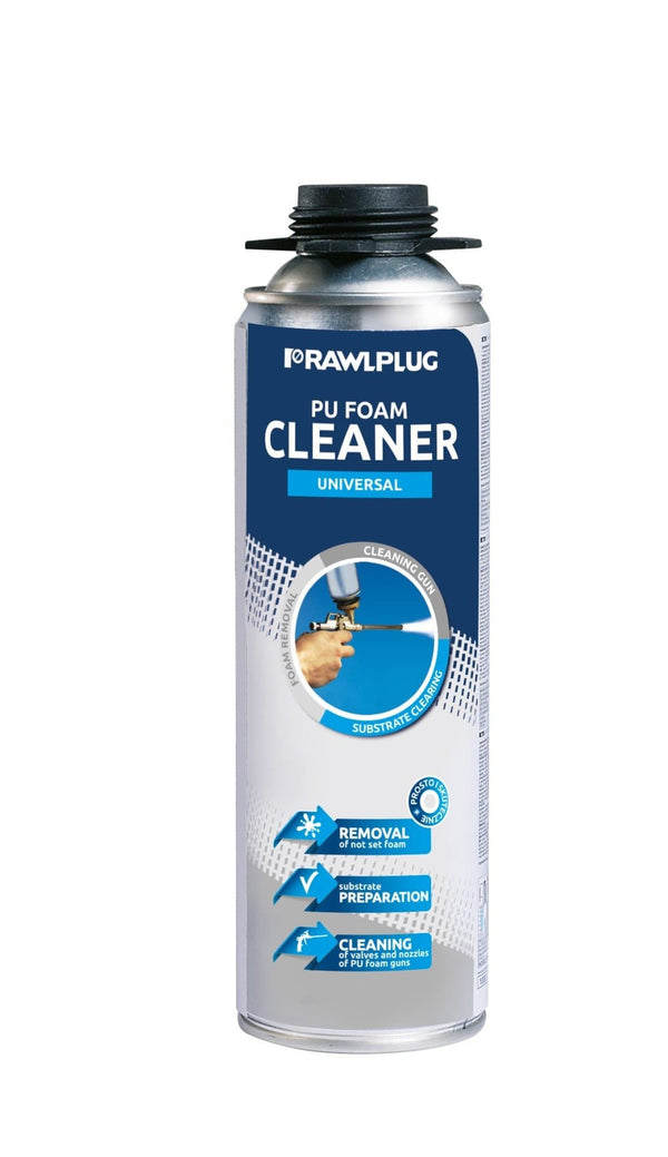 Rawlplug R-RPC-0500 Universal Foam Cleaning Agent - 500ML - Expanding Foam - Trade Building Products