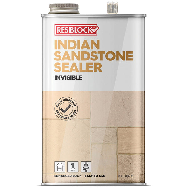 Resiblock Indian Sandstone Sealer - Invisible - Block Paving Sealer - Trade Building Products