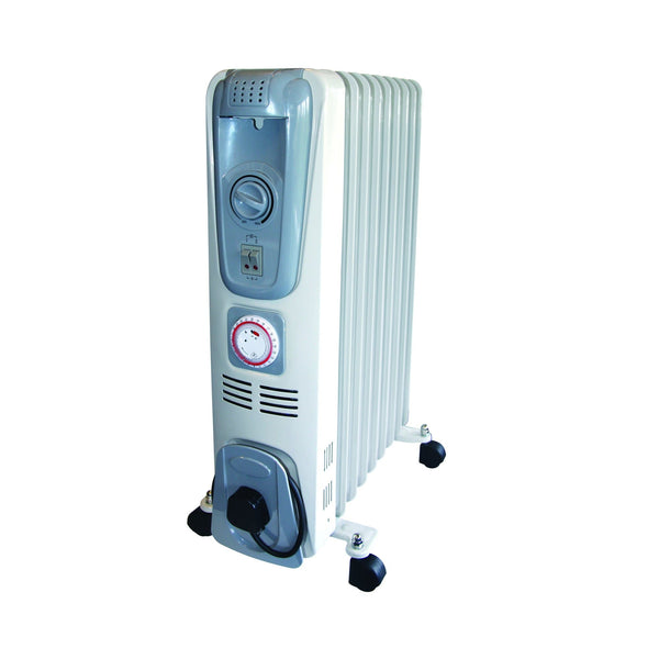 Rhino 2.0KW Oil Filled Radiator - White - Heater - Trade Building Products