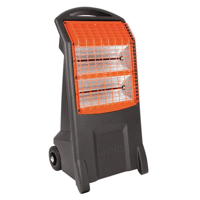 Rhino TQ3 Thermoquartz Heater - Black and Orange - Heater - Trade Building Products