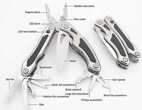 Roughneck 13 Function Multi-Tool with LED Light - Multi-Tool - Trade Building Products