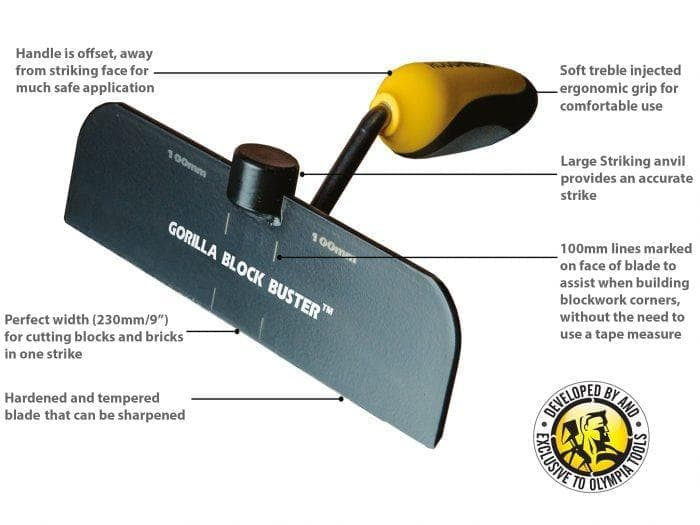 Roughneck Gorilla Block Buster Bolster - Hammer - Trade Building Products