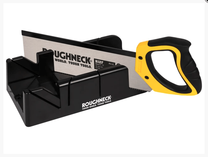Roughneck Mitre Box & Hardpoint Tenon Saw Set 300mm (12in) - Saw - Trade Building Products