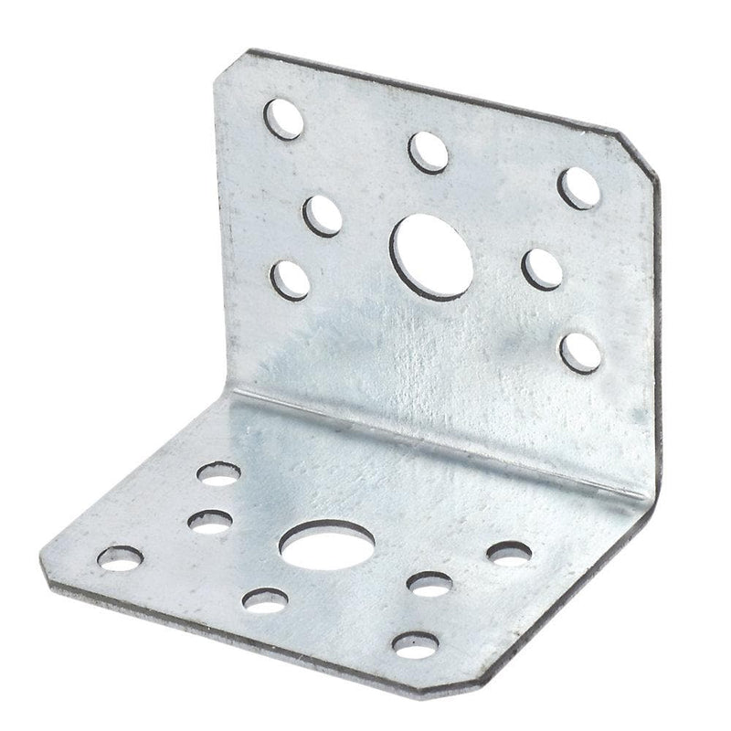 Sabrefix Heavy Duty Angle Brackets - Galvanised - 60 x 50mm - 10 Pack - Builders Metalwork - Trade Building Products
