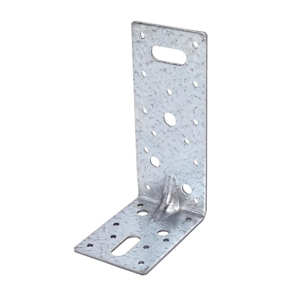 Sabrefix Heavy Duty Angle Brackets - Galvanised - 63 x 90mm - 10 Pack - Builders Metalwork - Trade Building Products