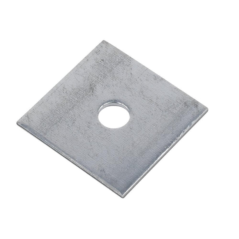 Sabrefix M10 Square Plate Washers - Galvanised - 50 x 50mm - 50 Pack - Builders Metalwork - Trade Building Products