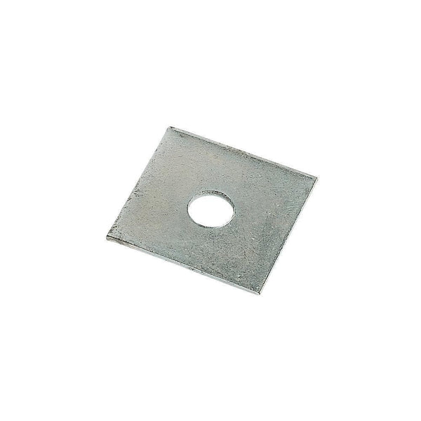 Sabrefix M12 Square Plate Washers - Galvanised - 50 x 50mm - 50 Pack - Builders Metalwork - Trade Building Products