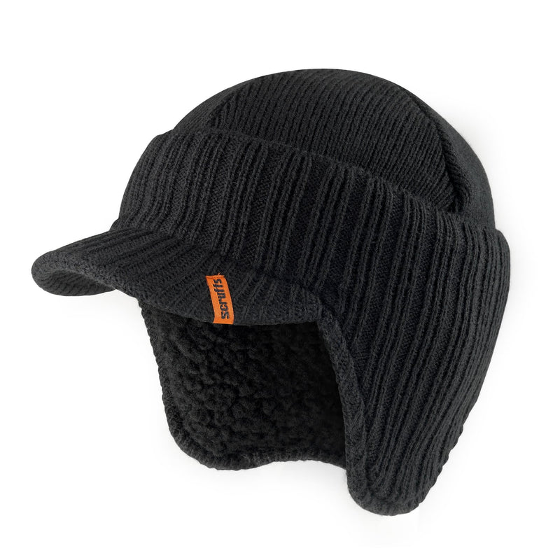 Scruffs Peaked Knitted Hat - Black - Hat - Trade Building Products