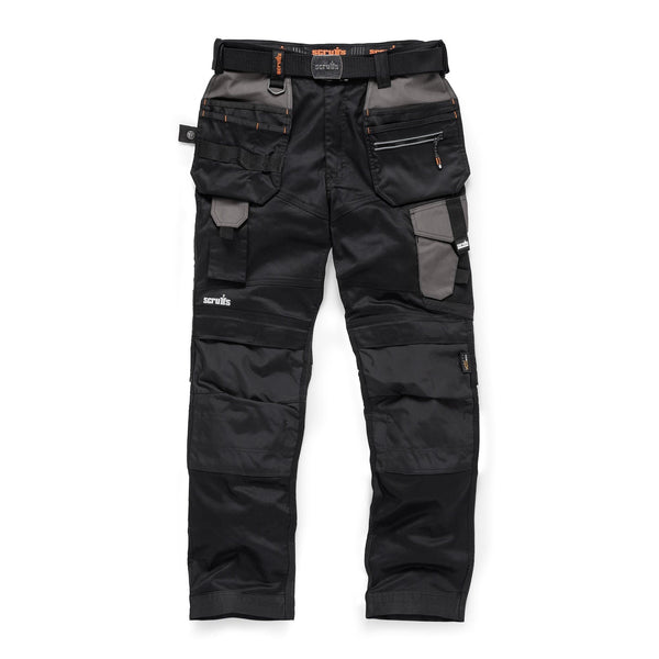 Scruffs Pro Flex Holster Trousers - Black - Trousers - Trade Building Products