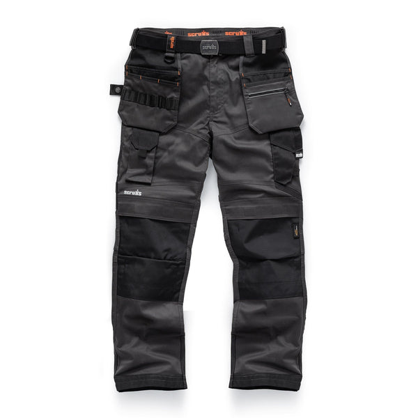 Scruffs Pro Flex Holster Trousers - Graphite - Trousers - Trade Building Products