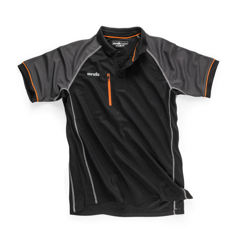 Scruffs Trade Active Polo - Black - Polo Shirt - Trade Building Products