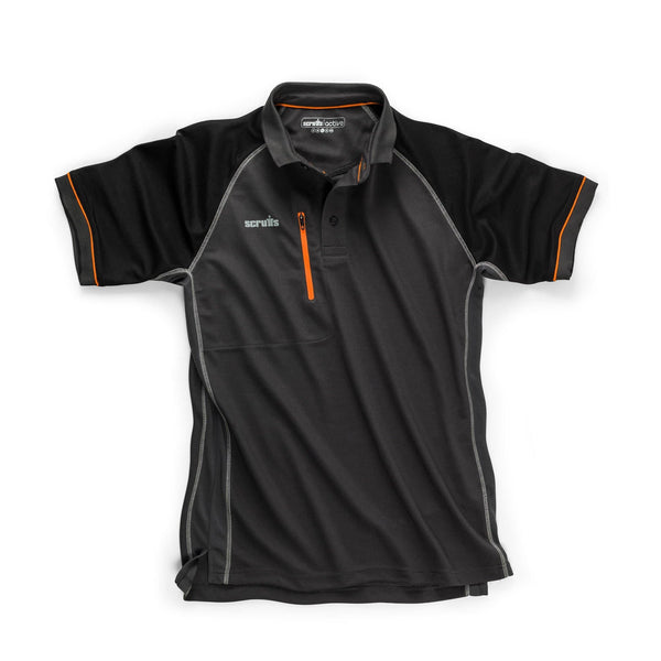 Scruffs Trade Active Polo - Graphite - Polo Shirt - Trade Building Products