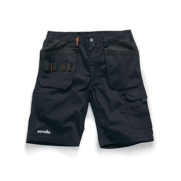 Scruffs Trade Flex Short Black - Shorts - Trade Building Products