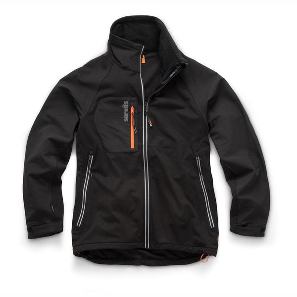 Scruffs Trade Flex Softshell Jacket Black - Jacket - Trade Building Products