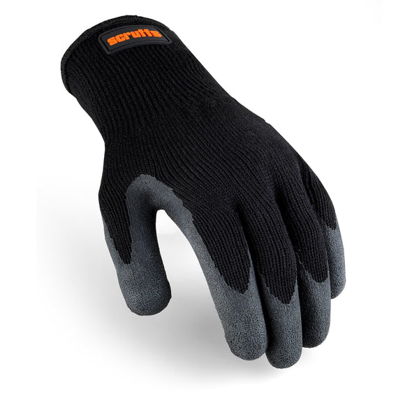 Scruffs Utility Black Latex Coated Glove - Safety Gloves - Trade Building Products