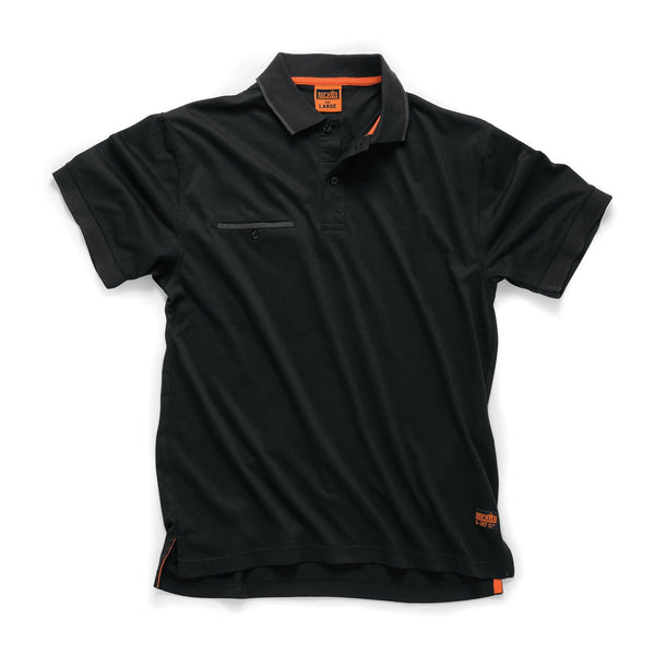 Scruffs Worker Polo - Black - Polo Shirt - Trade Building Products