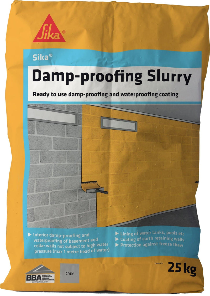 Sika Damp-Proofing Slurry - Waterproof Coating - Trade Building Products