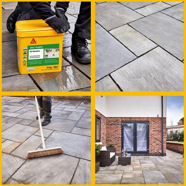 Sika Fastfix All Weather - Patio Jointing Compound 14KG - Jointing Compound - Trade Building Products