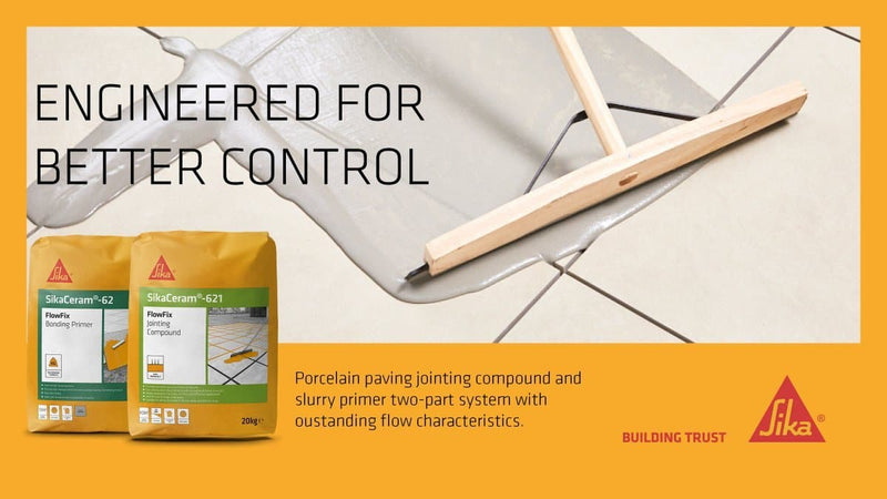 SikaCeram-621 FlowFix Jointing Compound - For Porcelain Tiles - Jointing Compound - Trade Building Products