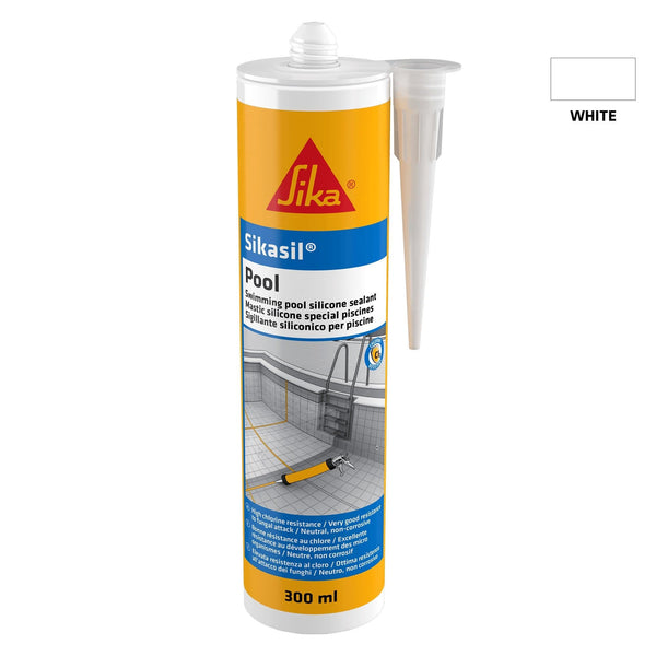 Sikasil Pool - Chlorine Resistant Silicone Sealant - Joint Sealant - Trade Building Products