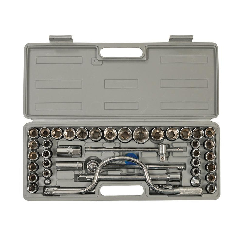 "Socket Set 1/2"" Metric/AF 42pce - Hand Tools - Trade Building Products"