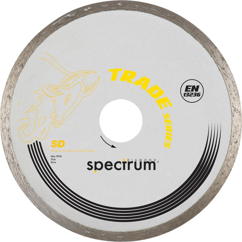 Spectrum SD Trade Continuous Rim Diamond Blade - Ceramic - Diamond Blade - Trade Building Products