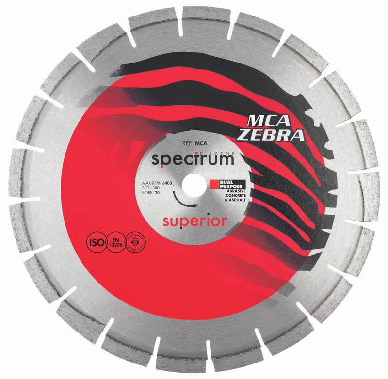Spectrum Superior MCA Zebra Diamond Blade - Abrasive - Diamond Blade - Trade Building Products