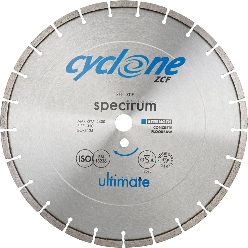 Spectrum ZCF Ultimate Cyclone Floorsaw Diamond Blade - Concrete - Diamond Blade - Trade Building Products