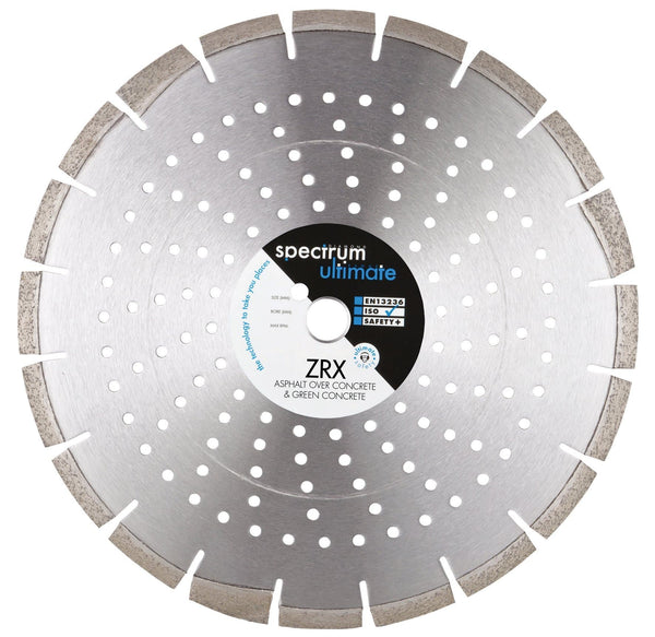Spectrum ZRX Ultimate Floorsaw Diamond Blade - Green Concrete & Asphalt over Concrete - Diamond Blade - Trade Building Products