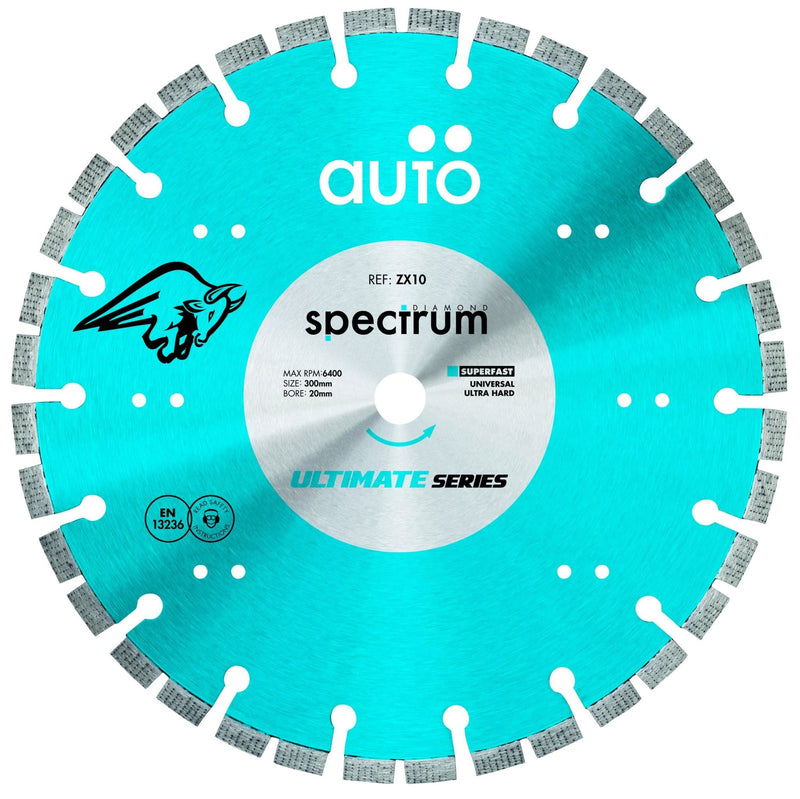 Spectrum ZX10 Ultimate Auto Diamond Blade - Universal / Hard - Diamond Blade - Trade Building Products