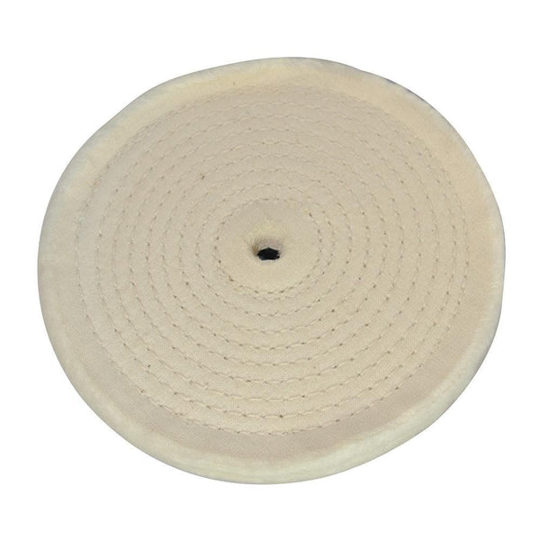 Spiral-Stitched Cotton Buffing Wheel - 150mm - Power Tool Accessories - Trade Building Products