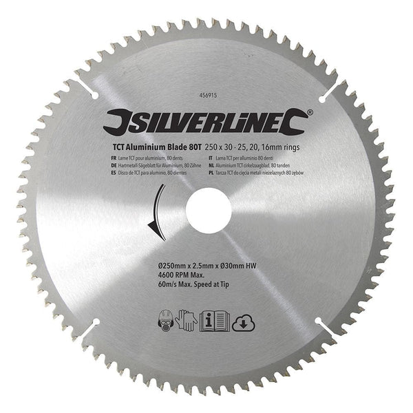 TCT Aluminium Blade 80T - Power Tools - Trade Building Products