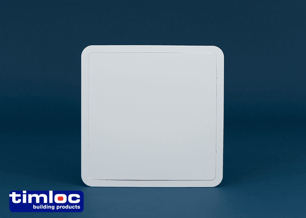 Timloc Plastic Access Panel - 470 x 470mm - Hinged White - Access Panels - Trade Building Products