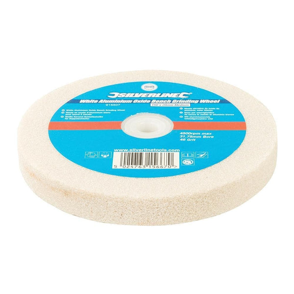 White Aluminium Oxide Bench Grinding Wheel - Medium - 150mm - Power Tool Accessories - Trade Building Products