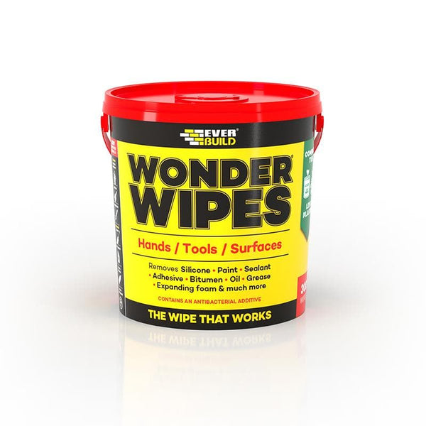 Wonder Wipes - Multi-Use - Anti-Bacterial - Giant Tub - 300 Wipes - - Cleaners - Trade Building Products