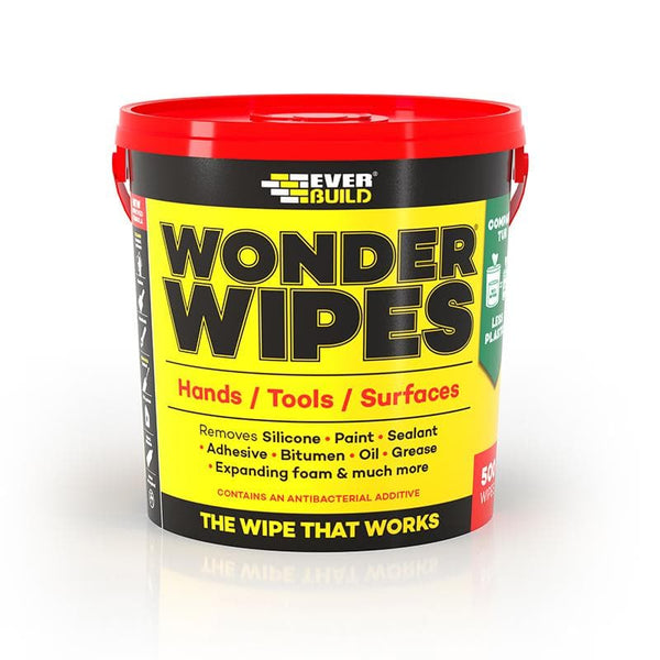 Wonder Wipes - Multi-Use - Anti-Bacterial - Monster Tub - 500 Wipes - - Cleaners - Trade Building Products