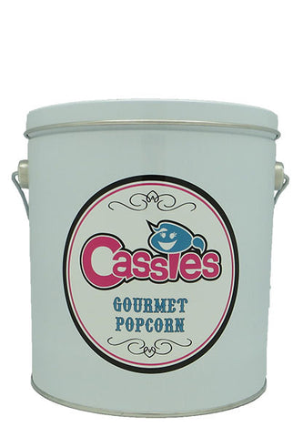 Cassie's Gourmet Popcorn Refillable 1 Gallon Popcorn Tin