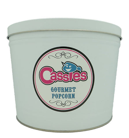Cassie's Gourmet Popcorn Refillable 2 Gallon Popcorn Tin