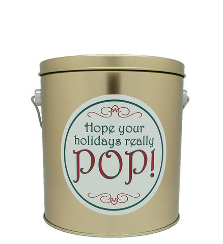 Cassie's Gourmet Popcorn 1 Gallon Christmas Hope Your Holidays Really Pop!